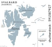 svalbard  bear island and jan... | Shutterstock .eps vector #591587927