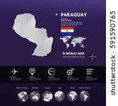 paraguay map vector... | Shutterstock .eps vector #591590765