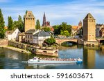 strasbourg  ponts couverts  | Shutterstock . vector #591603671