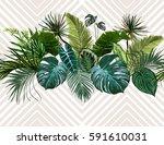 vector seamless vintage... | Shutterstock .eps vector #591610031