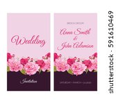 wedding invitation  thank you... | Shutterstock .eps vector #591610469