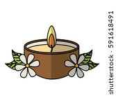 candle spa aroma therapy | Shutterstock .eps vector #591618491
