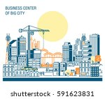 business center of big city... | Shutterstock .eps vector #591623831
