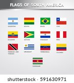 flags of south america | Shutterstock .eps vector #591630971