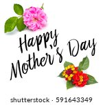 happy mothers day type with... | Shutterstock . vector #591643349