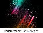 abstract multicolored powder... | Shutterstock . vector #591649529