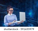 digital composition of... | Shutterstock . vector #591655979