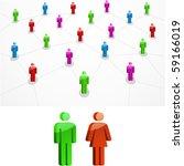 network concept. vector... | Shutterstock .eps vector #59166019
