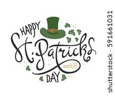 happy saint patrick's day... | Shutterstock .eps vector #591661031