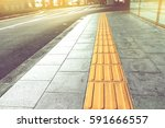 tactile paving for blind... | Shutterstock . vector #591666557
