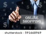 business man pointing his hand... | Shutterstock . vector #591668969