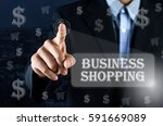 business man pointing his hand... | Shutterstock . vector #591669089