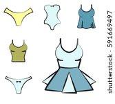 women underwear or lingerie... | Shutterstock .eps vector #591669497