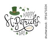happy saint patrick's day... | Shutterstock .eps vector #591671024