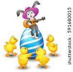 vector illustration of cartoon... | Shutterstock .eps vector #591680015