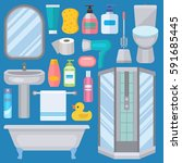 bath equipment icons made in... | Shutterstock .eps vector #591685445
