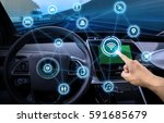 intelligent vehicle cockpit and ... | Shutterstock . vector #591685679