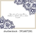 romantic invitation. wedding ... | Shutterstock . vector #591687281