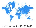 vector map world country | Shutterstock .eps vector #591699659