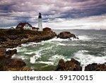 Portland Head Lighthouse Sits...