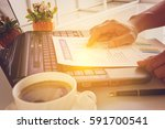 businessman or ceo or cfo... | Shutterstock . vector #591700541