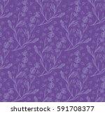 violet color lavender flower... | Shutterstock .eps vector #591708377