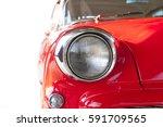 Old Red Vintage Car