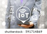 internet of things  iot ... | Shutterstock . vector #591714869