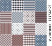 seamless patchwork background... | Shutterstock .eps vector #591723407