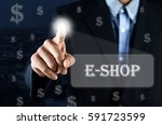 business man pointing hand on... | Shutterstock . vector #591723599