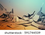 abstract 3d rendering of... | Shutterstock . vector #591744539