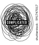 complicated concept. complex... | Shutterstock .eps vector #591747017