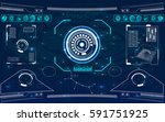 radar screen. vector... | Shutterstock .eps vector #591751925