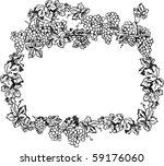 creative grape frame | Shutterstock . vector #59176060