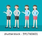 woman office worker. vector... | Shutterstock .eps vector #591760601