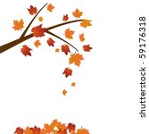 branch of maple tree  autumn... | Shutterstock .eps vector #59176318