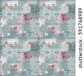 ethnic boho seamless pattern.... | Shutterstock . vector #591768989