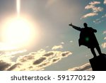 monument to sun | Shutterstock . vector #591770129