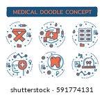 doodle vector illustrations of...   Shutterstock .eps vector #591774131