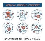 doodle vector illustrations of... | Shutterstock .eps vector #591774137