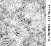 seamless ink hand drawn... | Shutterstock .eps vector #591781121