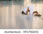 mecca  saudi arabia   jan 30 ... | Shutterstock . vector #591782651