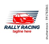 race car logo | Shutterstock .eps vector #591782861
