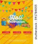 happy holi design   holi design ... | Shutterstock .eps vector #591784055