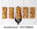 no bake energy granola bars on... | Shutterstock . vector #591788885