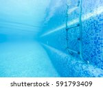 Swimming Pool Stair From Under...