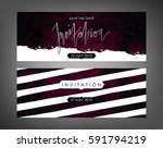 trendy vector invitation... | Shutterstock .eps vector #591794219