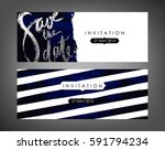 trendy vector invitation... | Shutterstock .eps vector #591794234