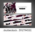 trendy spring flowers vector... | Shutterstock .eps vector #591794531