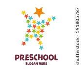 preschool  kindergarten ... | Shutterstock .eps vector #591805787